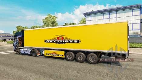 Skin Svyturys on the trailer for Euro Truck Simulator 2