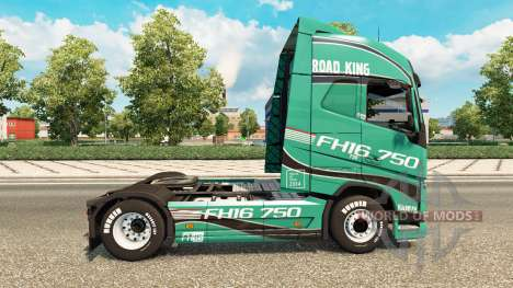 Road King skin for Volvo truck for Euro Truck Simulator 2