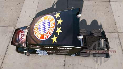 Skin FC Bayern Munchen on a Kenworth tractor for American Truck Simulator