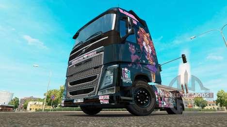 Monster High skin for Volvo truck for Euro Truck Simulator 2