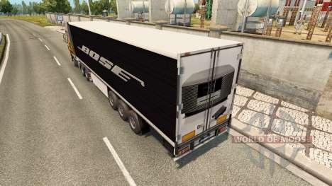 Skin Bose on the trailer for Euro Truck Simulator 2