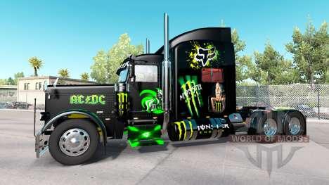 Monster Energy skin for the truck Peterbilt 389 for American Truck Simulator