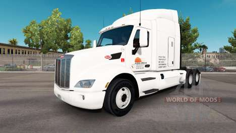 Daybreak Express skin for the truck Peterbilt for American Truck Simulator