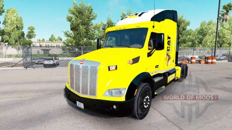 Caterpillar skin for the truck Peterbilt for American Truck Simulator