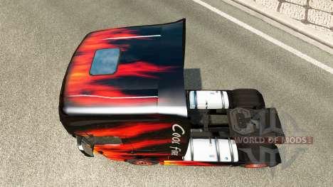 Skin Cool Fire truck Scania R700 for Euro Truck Simulator 2