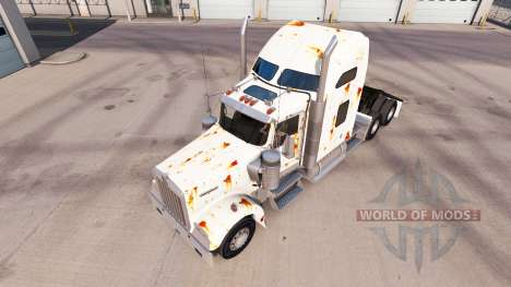 Skin Rusty on the truck Kenworth W900 for American Truck Simulator
