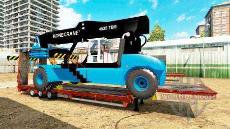 Low sweep with a forklift Konecranes for Euro Truck Simulator 2