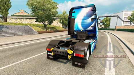 Skin Blue Abstract Iveco for the truck for Euro Truck Simulator 2