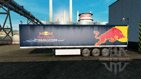 Skin Red Bull on the trailer for Euro Truck Simulator 2