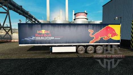Skin Red Bull on the trailer for Euro Truck Simulator 2