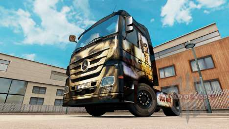 Luis Royo skin for Mercedes truck Benz for Euro Truck Simulator 2