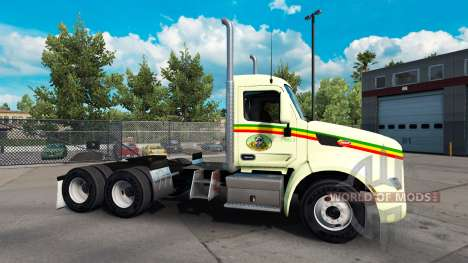 Reggae skin for the truck Peterbilt for American Truck Simulator