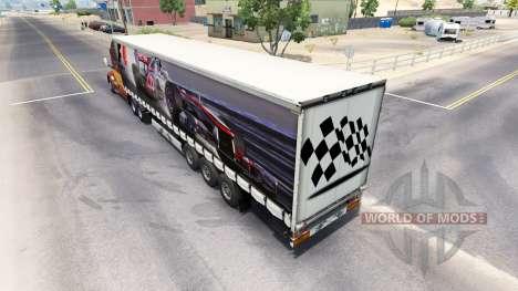 Skin Formula 1 on the semi-trailer for American Truck Simulator