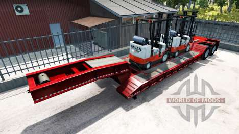 Semi-trailers with appliances of famous brands for American Truck Simulator