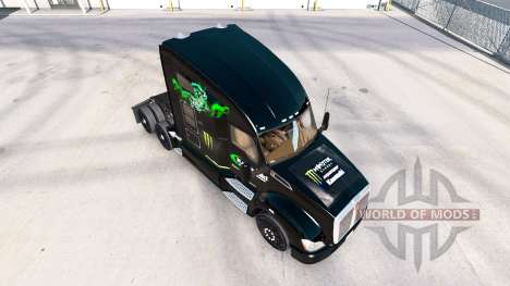 Skin Kawasaki Racing Team on a Kenworth tractor for American Truck Simulator