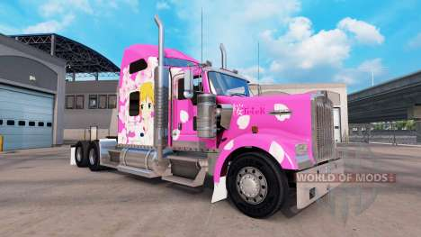 Sakura skin for the Kenworth W900 tractor for American Truck Simulator