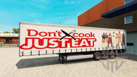 Skin Just Eat on the trailer for Euro Truck Simulator 2