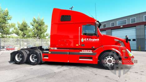 Skin C R England in tractor Volvo VNL 670 for American Truck Simulator