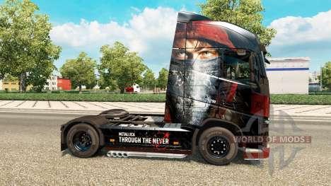 Skin Metallica for Volvo trucks for Euro Truck Simulator 2