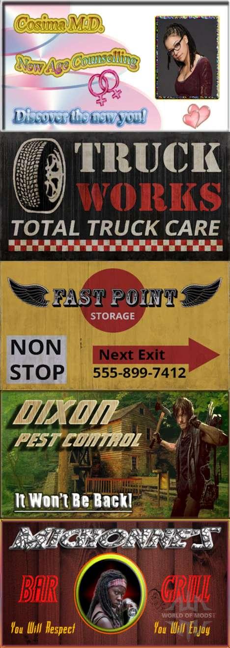 Advertising on billboards for American Truck Simulator