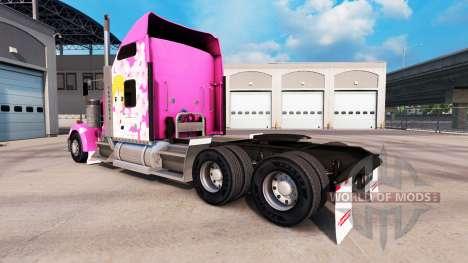 Sakura skin for the Kenworth W900 tractor for American Truck Simulator