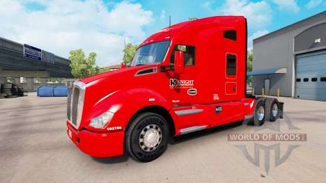 Skin Knights Transportation to the Kenworth trac for American Truck Simulator