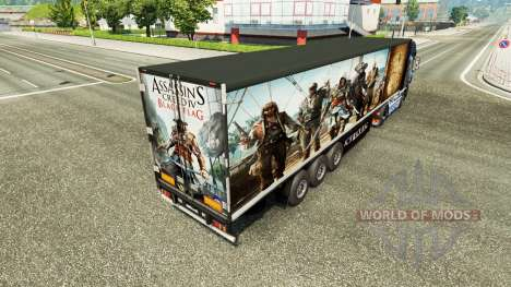 Skin Assassins Creed IV trailer for Euro Truck Simulator 2