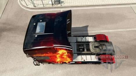 Fire Girl skin for Scania truck for Euro Truck Simulator 2