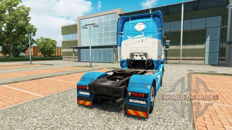 Aerolineas Argentinas skin for Scania truck for Euro Truck Simulator 2