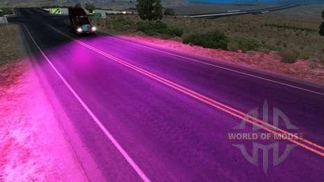 Purple xenons for American Truck Simulator
