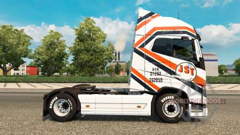 JST Services skin for Volvo truck for Euro Truck Simulator 2