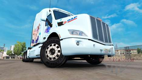 Yuyushiki skin for the truck Peterbilt for American Truck Simulator