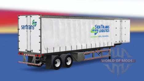 Skins on a curtain semi-trailer for American Truck Simulator