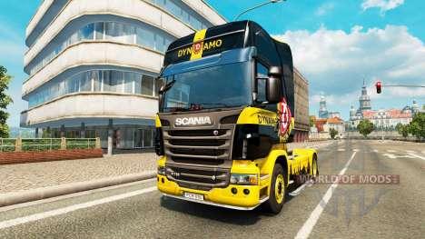 Dynamo Dresden skin for Scania truck for Euro Truck Simulator 2