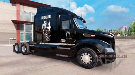 Skin Elvis Presley on the tractor Peterbilt for American Truck Simulator