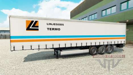 Skin Linjegods on the trailer for Euro Truck Simulator 2