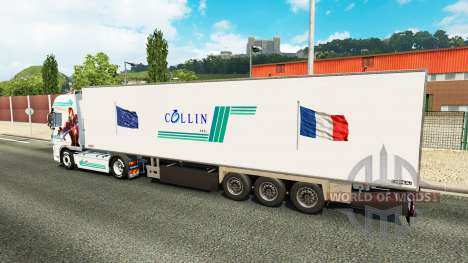 Collin IronMan skin for DAF truck for Euro Truck Simulator 2