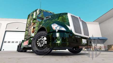 Predator skin for the Peterbilt and Kenworth tra for American Truck Simulator