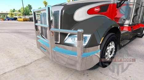 Chrome bumper on the Peterbilt 579 for American Truck Simulator