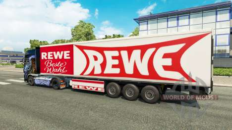 Rewe skin for the trailer for Euro Truck Simulator 2