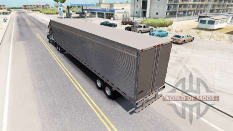 Chromed reefer trailer for American Truck Simulator