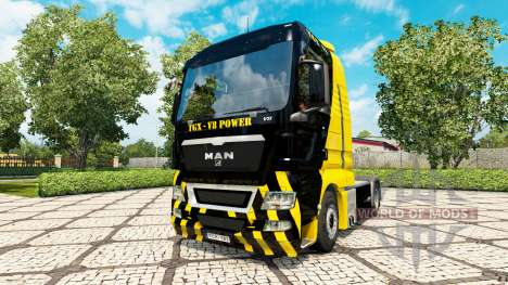 V8 Power skin for MAN truck for Euro Truck Simulator 2