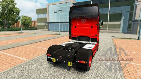 Skin Black & Red for tractor Scania R700 for Euro Truck Simulator 2