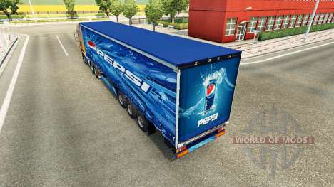Pepsi skin for the trailer for Euro Truck Simulator 2