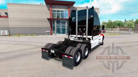 Netstoc Logistica skin for the truck Peterbilt for American Truck Simulator