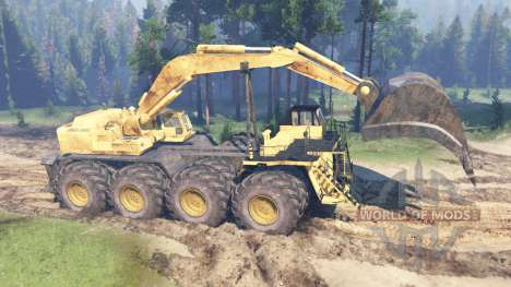 Dump truck 8x8 for Spin Tires
