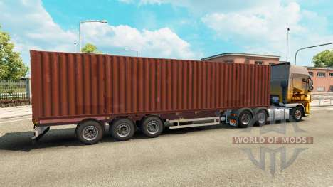 The semitrailer-container truck for Euro Truck Simulator 2