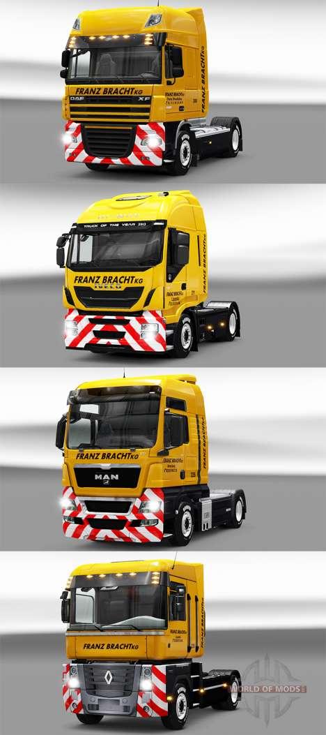 Franz Bracht skin on tractors for Euro Truck Simulator 2