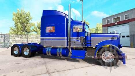 Skin Blue-gray on the truck Peterbilt 389 for American Truck Simulator