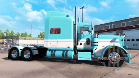 Skin Blue-White for the truck Peterbilt 389 for American Truck Simulator